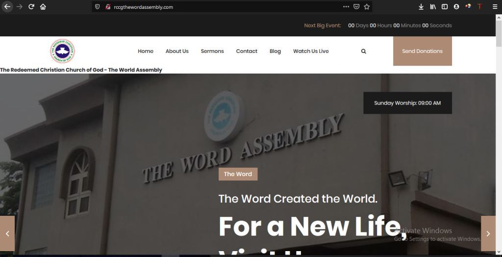TWA  Our Digital Services RCCG The Word Assembly